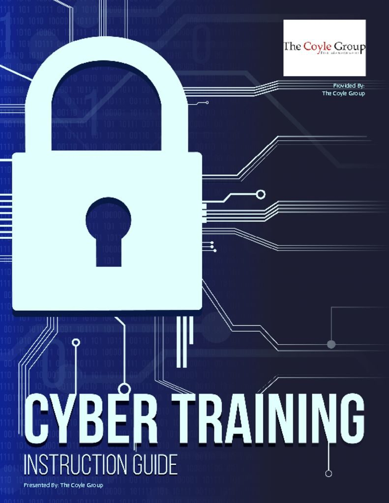 Employee Cyber Training – Instruction Guide