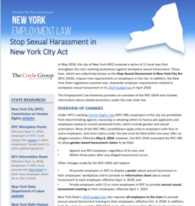 New York Stop Sexual Harassment Act