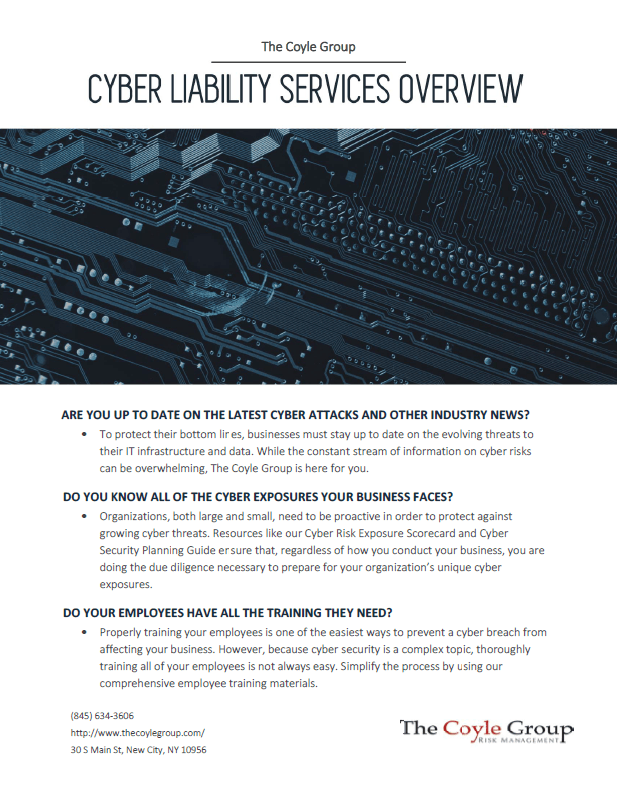 Cyber Liability Services Overview